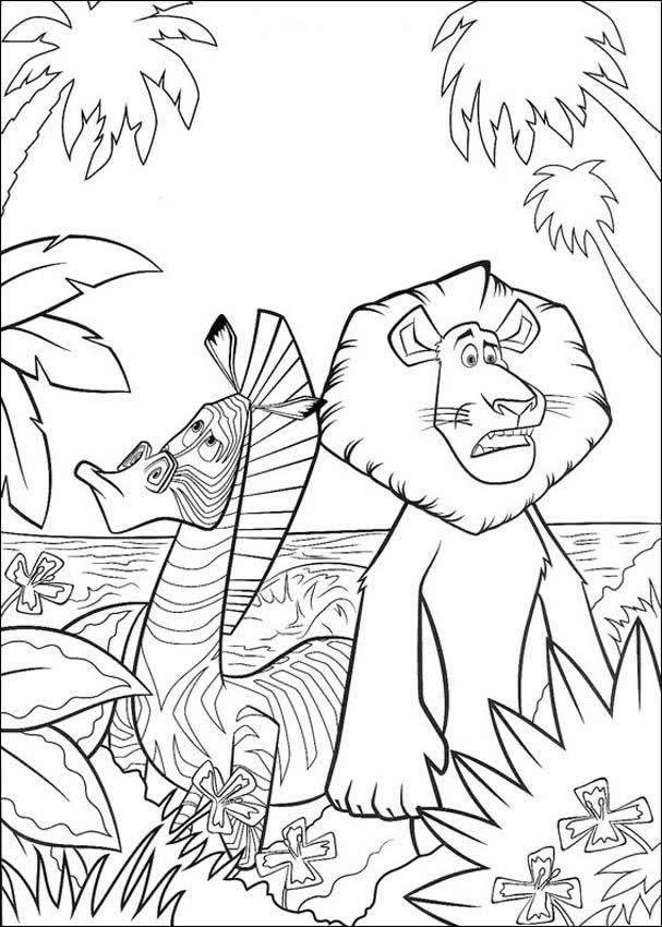 Madagascar coloring pages to print | Great Grandchildren | Pinterest ...