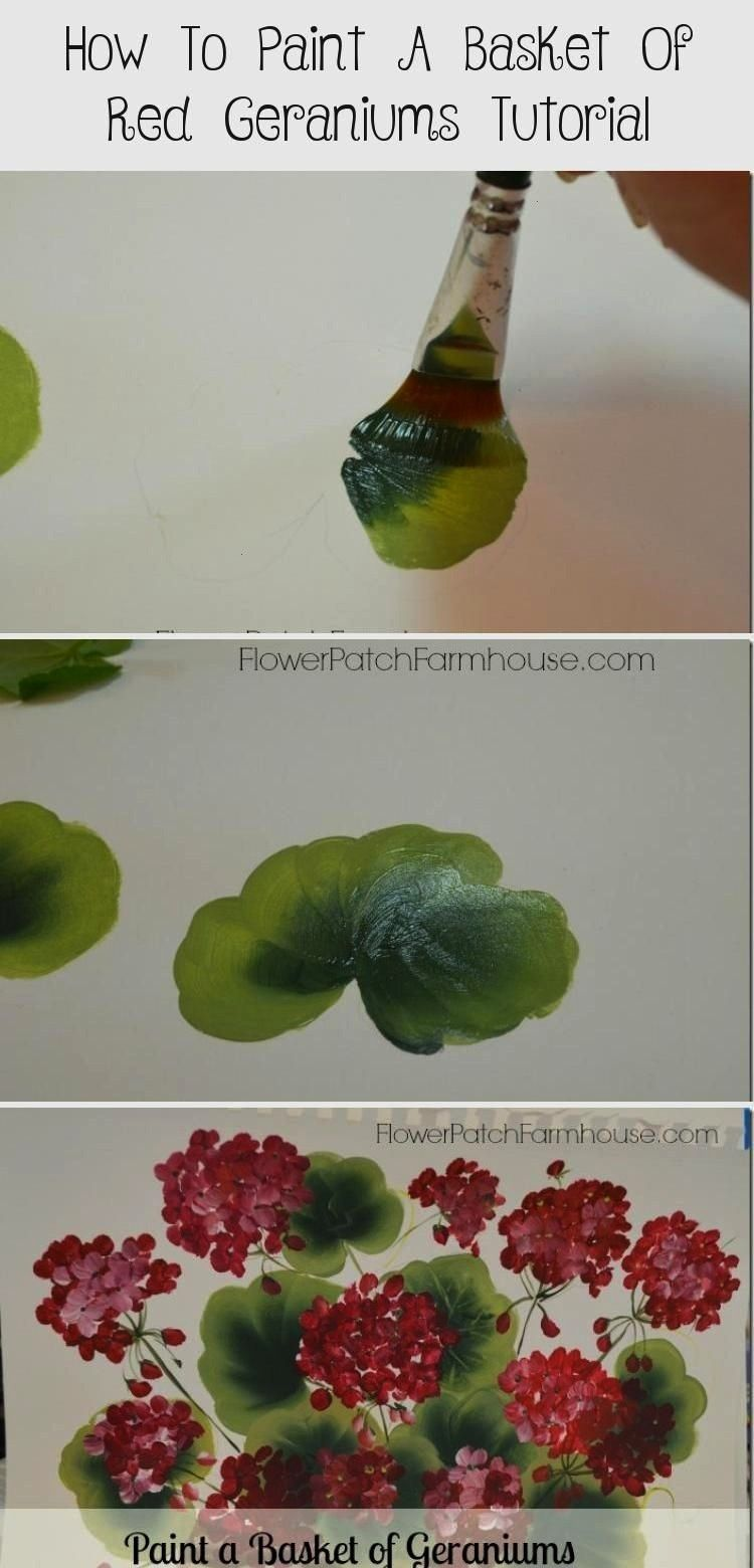 to Paint Geraniums FlowerPatchFarmho How to Paint Geraniums FlowerPatchFarmho Leah Perry leahperry0168 Beginner Paintings How to Paint Geraniums FlowerPatchFarmho LeahHow...