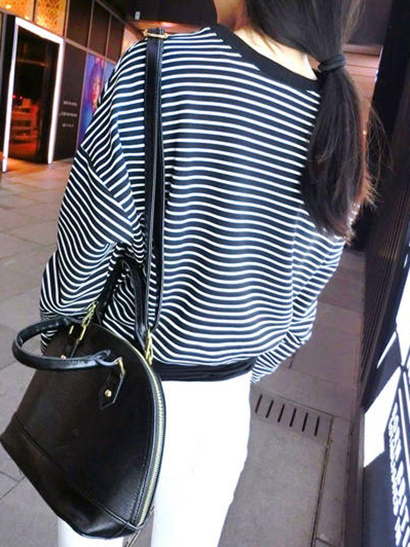 Choies Basic Striped Sweatshirt | Choies
