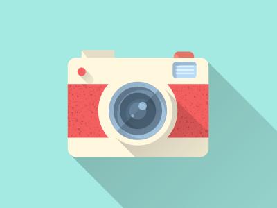 Flat Camera Camera Illustration Camera Icon Flat Illustration