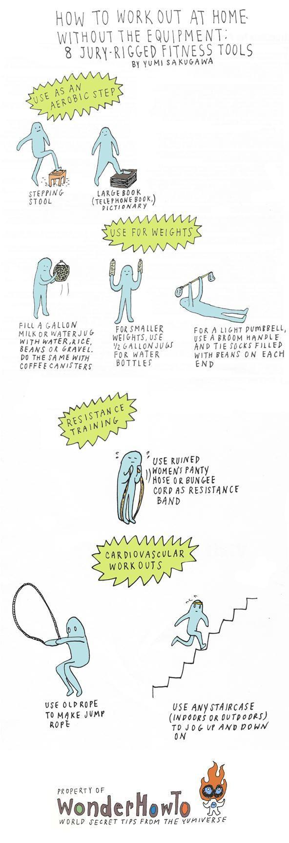 Comment s'entraîner à la maison sans l'équipement: 8 outils de fitness à gréer avec jury - #à #avec...