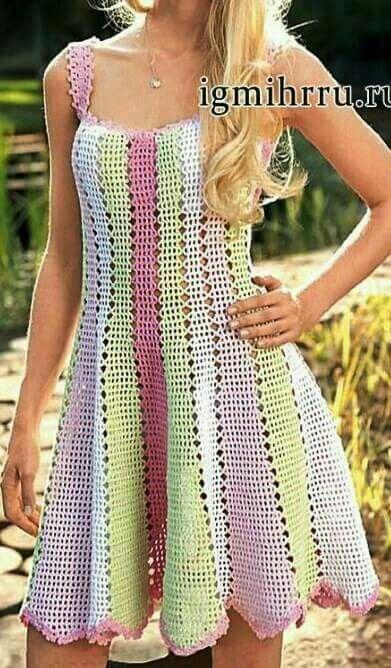 8f1ec24dc Katia Ribeiro Crochê Moda e Decoração | šaty | Crochet patterns ...