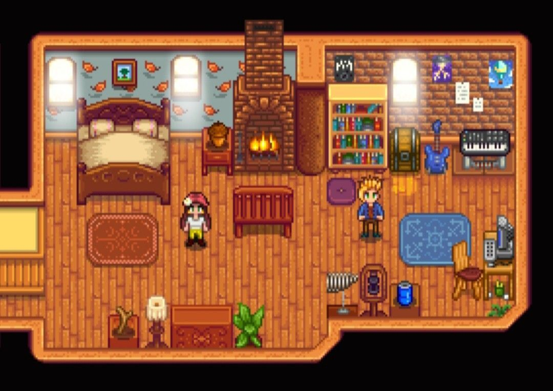 The Bedroom Area & Sam's Add-On Room >Stardew Valley>House ...