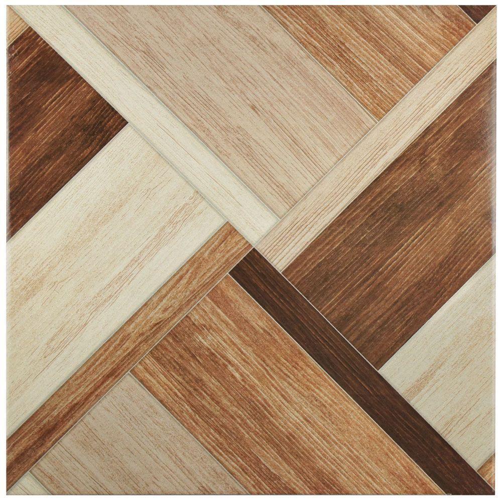 Merola Tile Austin Natural 17 34 In X 17 34 In Ceramic Floor And