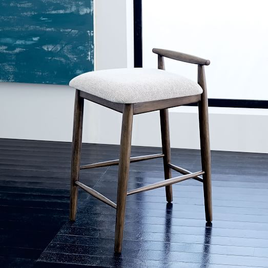 Bar stool · Framework Upholstered Counter Stool ... & Framework Upholstered Counter Stool | west elm doesnu0027t say how ... islam-shia.org