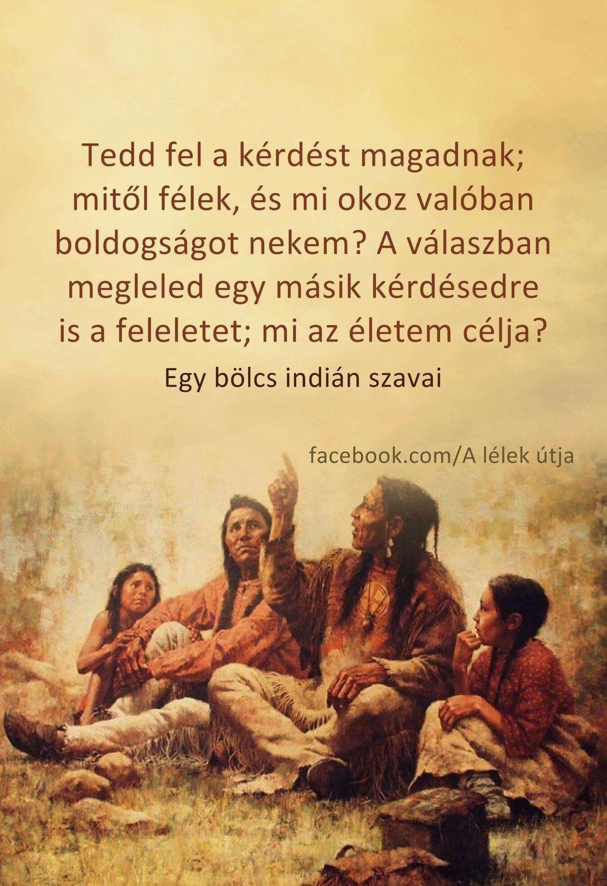 indián bölcsességek idézetek Egy bölcs indián szavai | Words of encouragement, Picture quotes