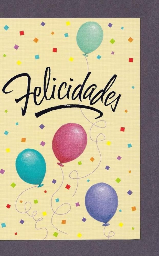 Spanish Birthday Greeting Card Best Wishes Pinterest Birthday