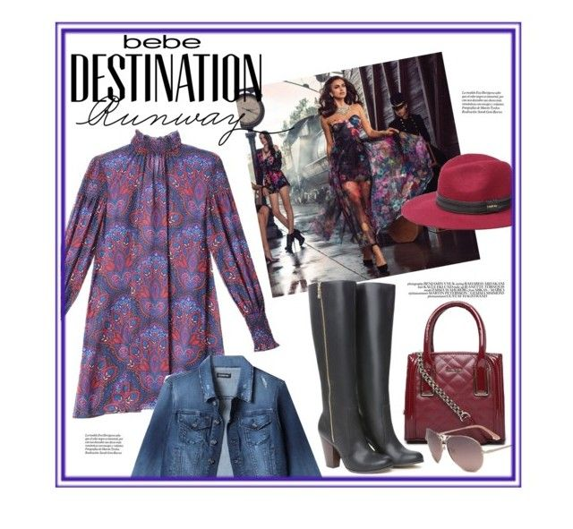 """Destination Runway with bebe : Contest Entry"" by beautifully-divergent ❤ liked on Polyvore featuring Bebe and beiconic"