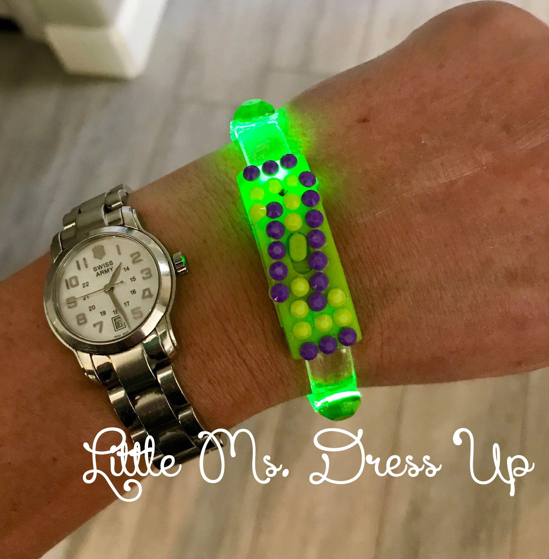 12583a5cac6 Disney Zombies Z band idea costume. Use light glow bracelet. Green. Zombie  Birthday