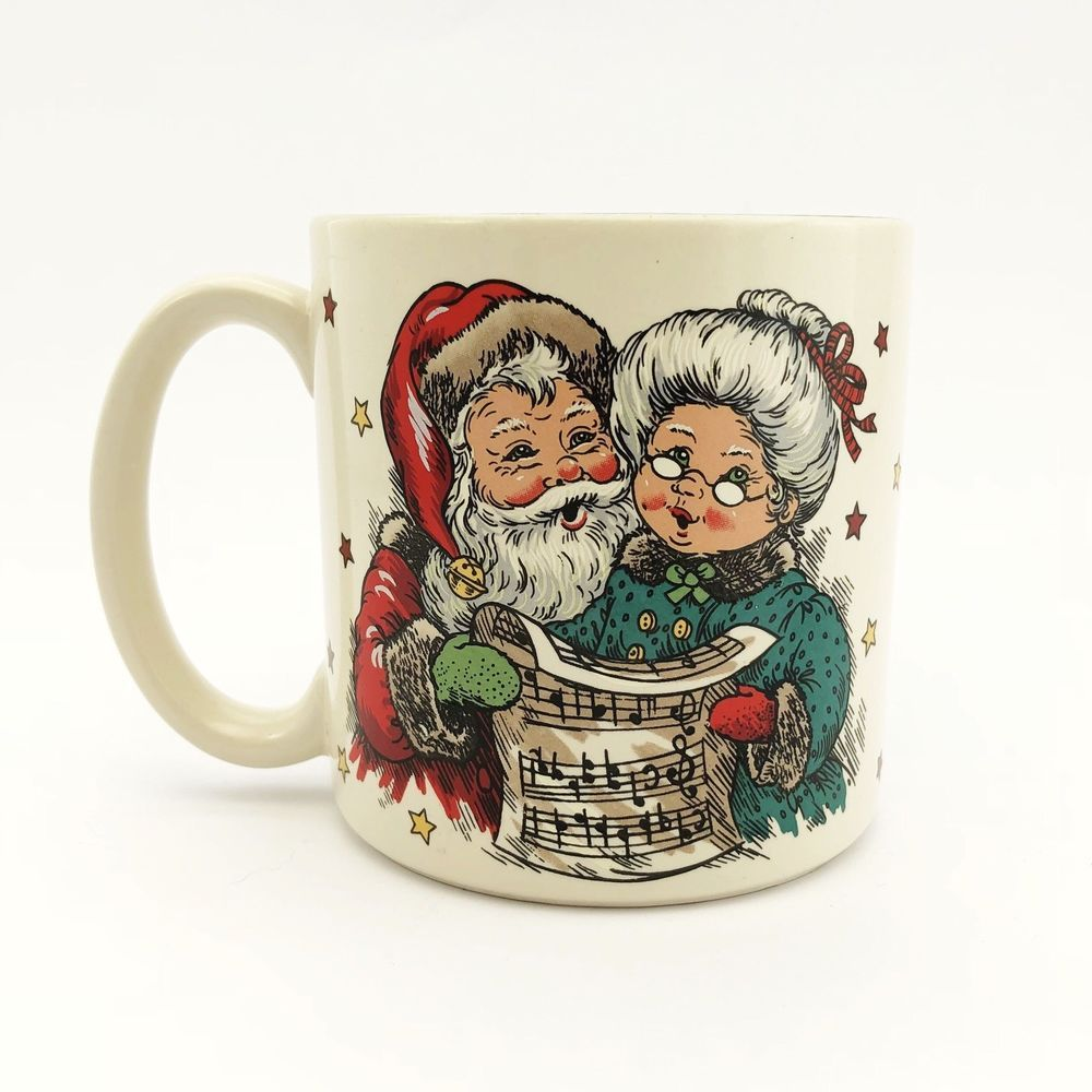 Christmas Gift Coffee Mug Mr Mrs Claus Singing Christmas Carols Ebay Coffee Gifts Christmas Mugs Mrs Claus