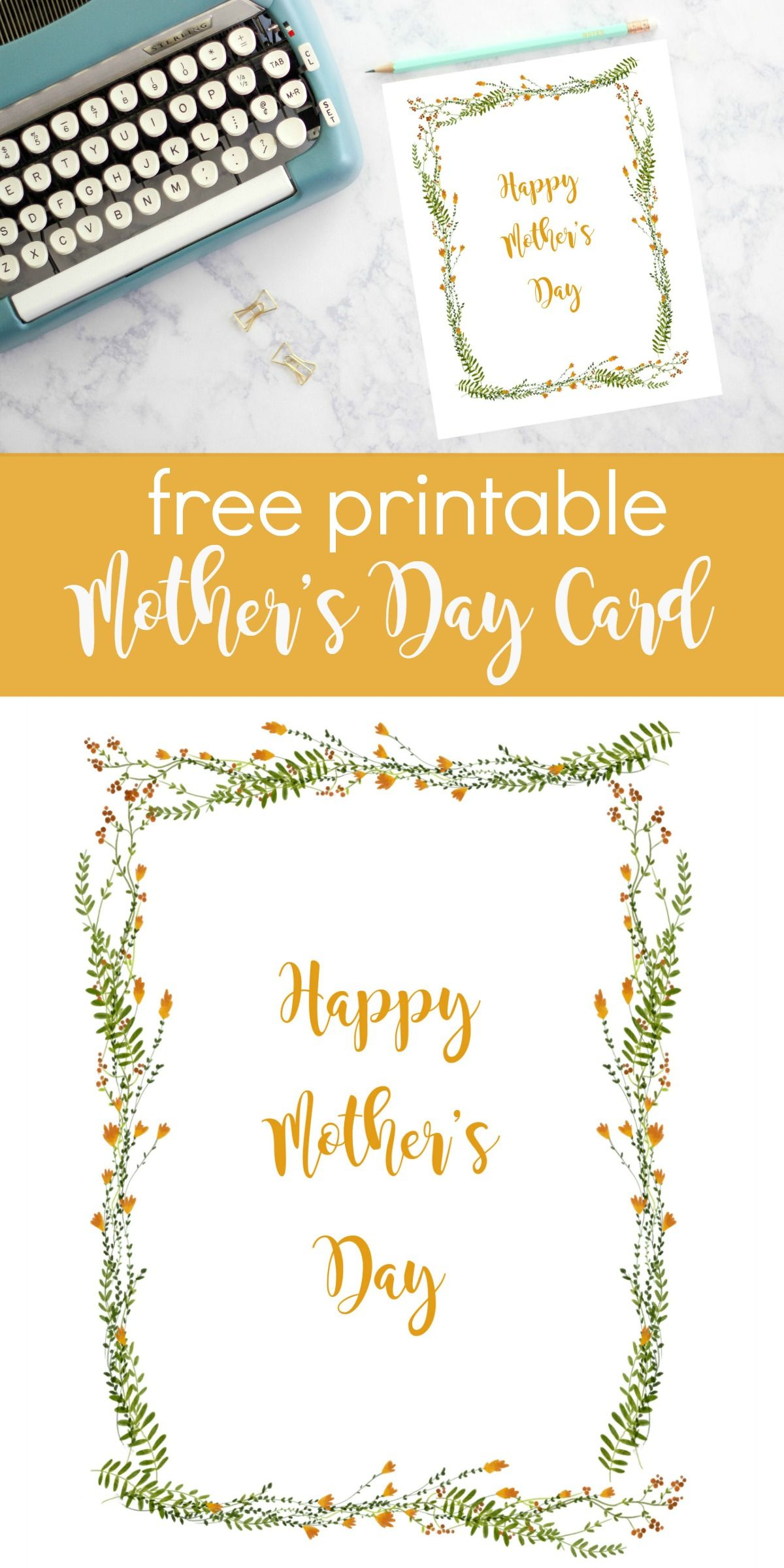 Happy Mother S Day Printable Card Mothers Day Cards Printable Cards Happy Mothers Day