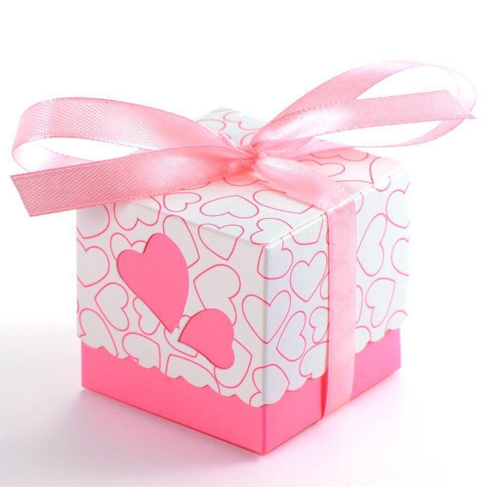 Tinksky 100pcs Novelty Double Hollow Love Heart Design Wedding Favor ...