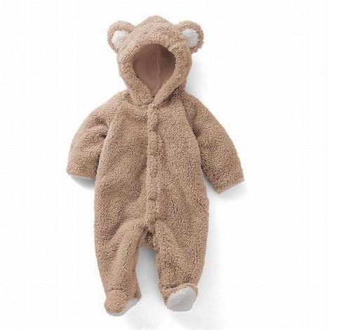 0dd267c605e2 Newborn Baby Boys Rompers Coral Fleece Winter Warm Bebe Kid Clothes ...