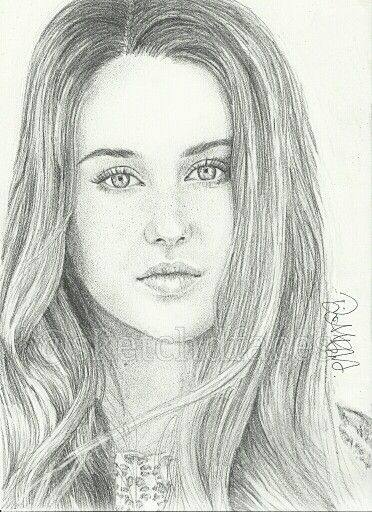 Follow me on Instagram: @sketchdfaces  Tris (Beatrice) played by an amazing actress Shailene Woodley in Divergent