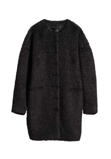 COCOON COAT-BLACK. Nili Lotan.