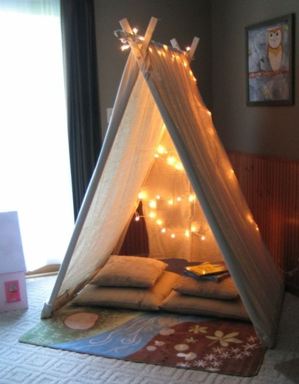 Kuschelhöhle kinderzimmer selber bauen  spielerische Zelte für Kinder!   Faszination Kinderzimmer ...