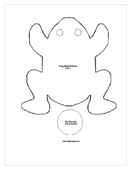Frog Bean Bag Project And Writing Sheet Frogs Bean