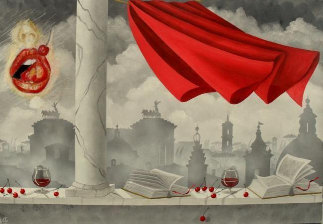 Bernardo Milite e GMZago (Intimita 'condivisa) - Pittura, 100x70 cm © 2010 by Zago -