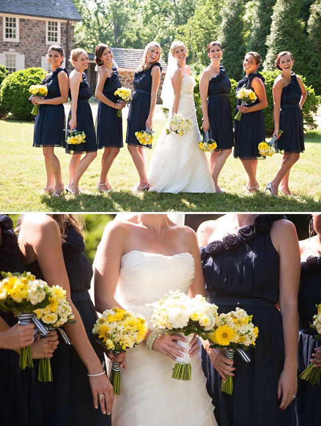 Navy And Yellow Wedding Colors Kathleen Chris Blue Inspirations