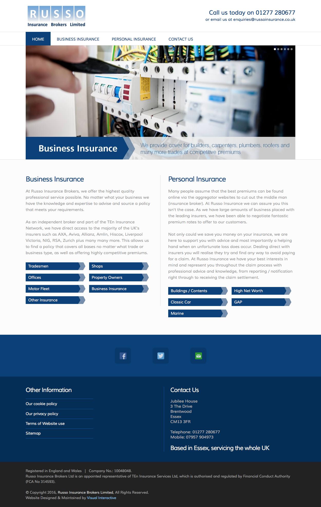 Fully responsive website design developed in 2016 for