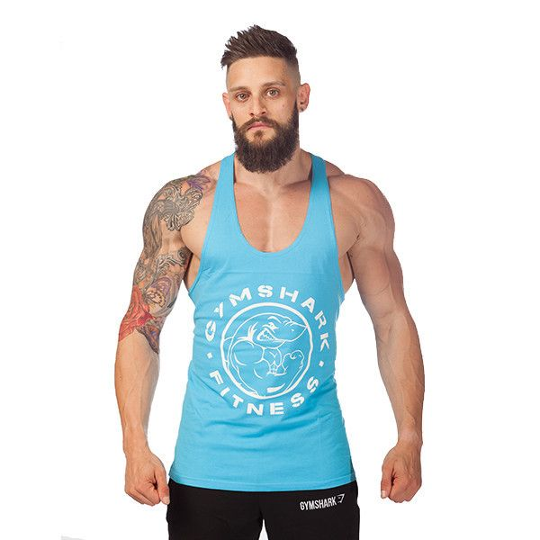 d9e07244e859a GymShark Fitness Stringer Tank - Baby Blue All men s wear