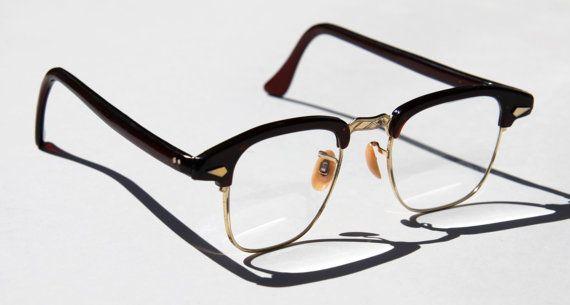 97d0fea590b6 Vintage 1950s Cat Eye Horn Rim Eye Glasses by POCO USA Half Rim with Dark  Wine Burgondy Red Frames with Diamond Studs