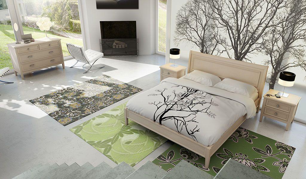 Render 3d di camera da letto realizzata in cinema 4d con postproduzione photoshop