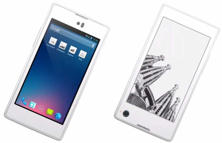 Yota Phone, 4.3inched Dual Screen EInk & HD JDI Display