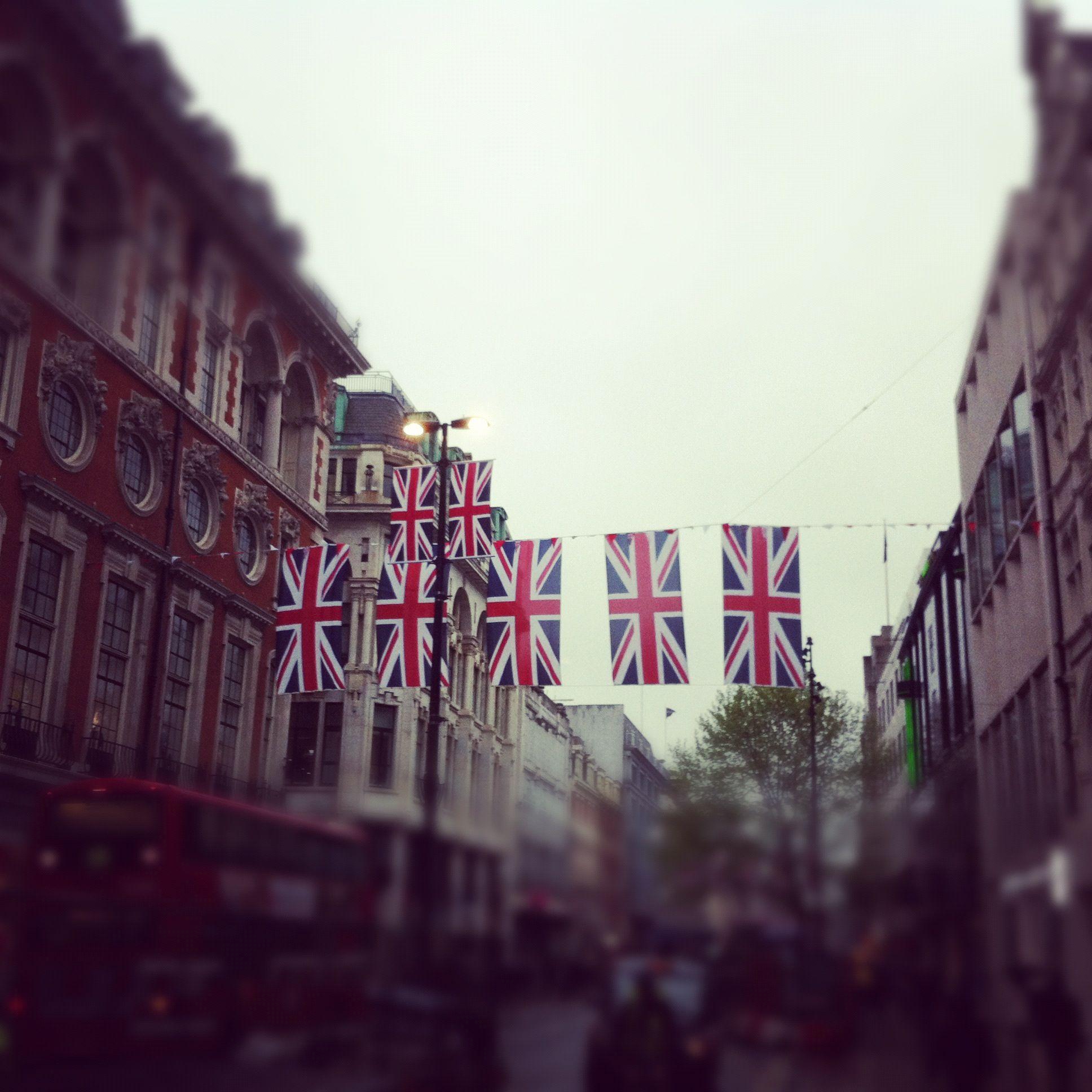 flags on regent street