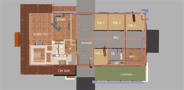 The Washington 01 Barn With Living Quarters Barn Plans Barn Layout