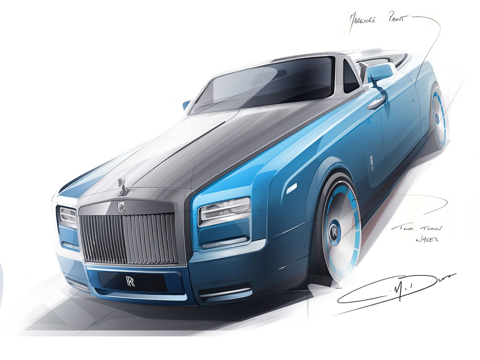 Rolls royce bespoke waterspeed collection design sketch