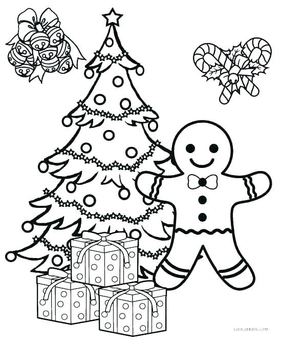 Christmas Tree Coloring Page Coloring Ornaments For Tree