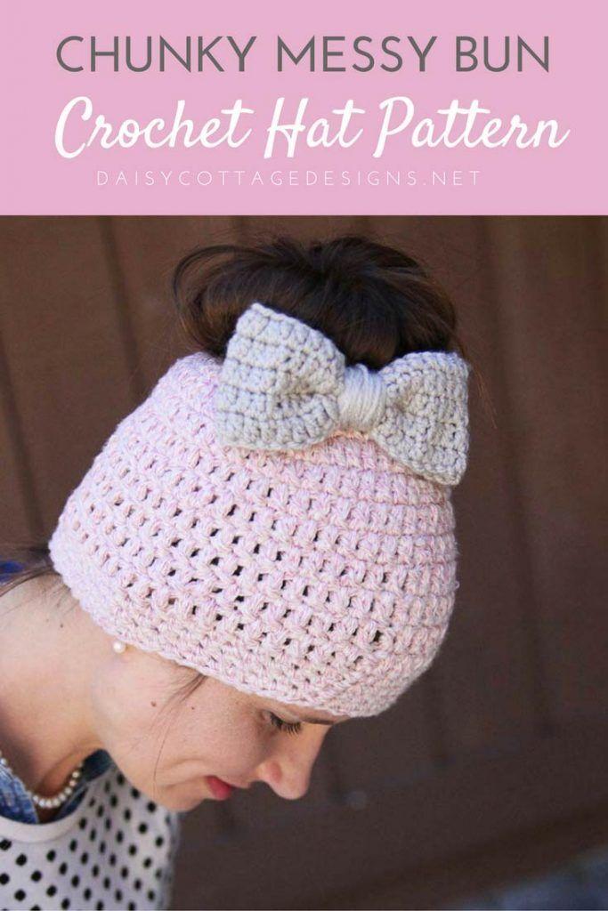 Messy Bun Free Crochet Pattern Crochet Patterns Pinterest