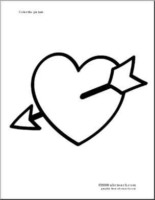 Valentine S Day Heart With Arrow Valentines Heart Illustration