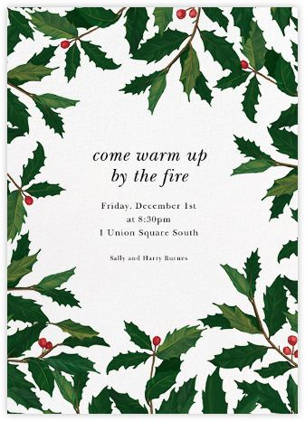 Holiday invitations - online and paper - Paperless Post party