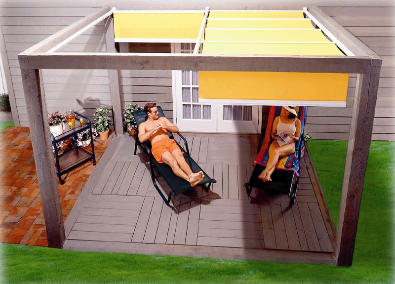 shade structure @Julie Forrest Misiewicz Eric thinks he ... on Canvas Sun Shade Pergola id=71479