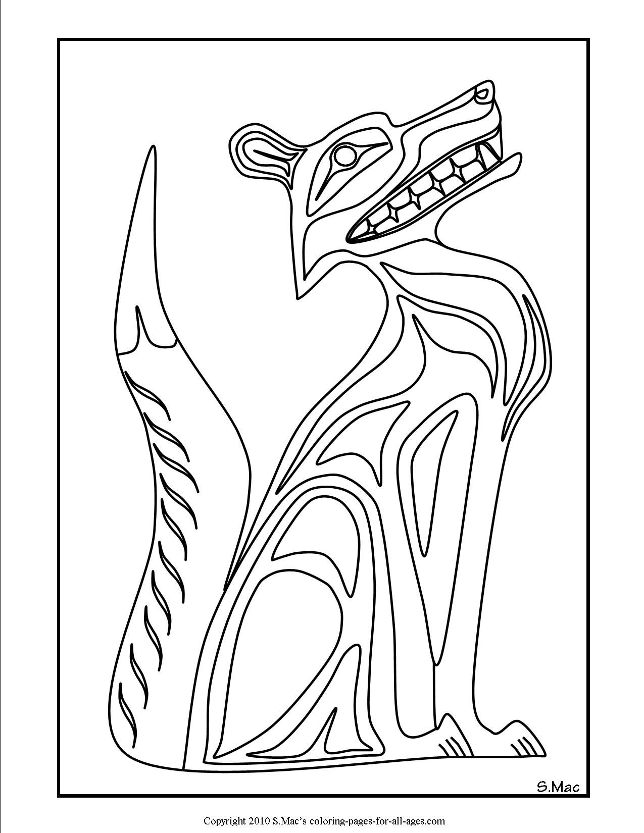 my interpretation of pacific northwest native american art pacific northwest native american art coloring pages reflect the connection the indigenous people - Symbols America Coloring Pages