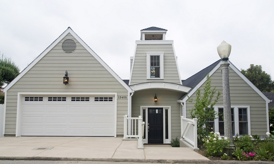 The Exterior Of Ultimate Modern Barn House With White Trim Taupe Painted Siding And A Shiny Black Front Door Oozing Clic Charm In Sherman