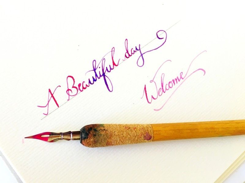 How to do calligraphy using watercolor calligraphy