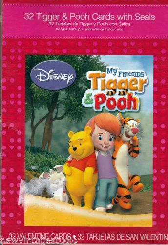 Tigger Pooh Boxed Valentine Cards 32 Cards 8 Designs With Seals