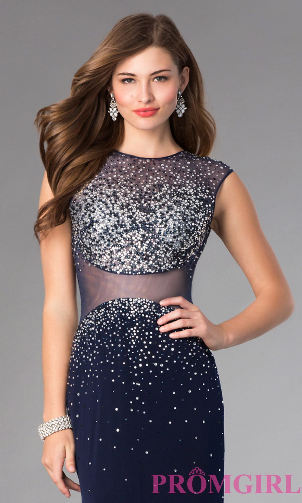 Image of Beaded Open Back Formal Gown by Alyce  Style: AL-35708 Detail Image 1