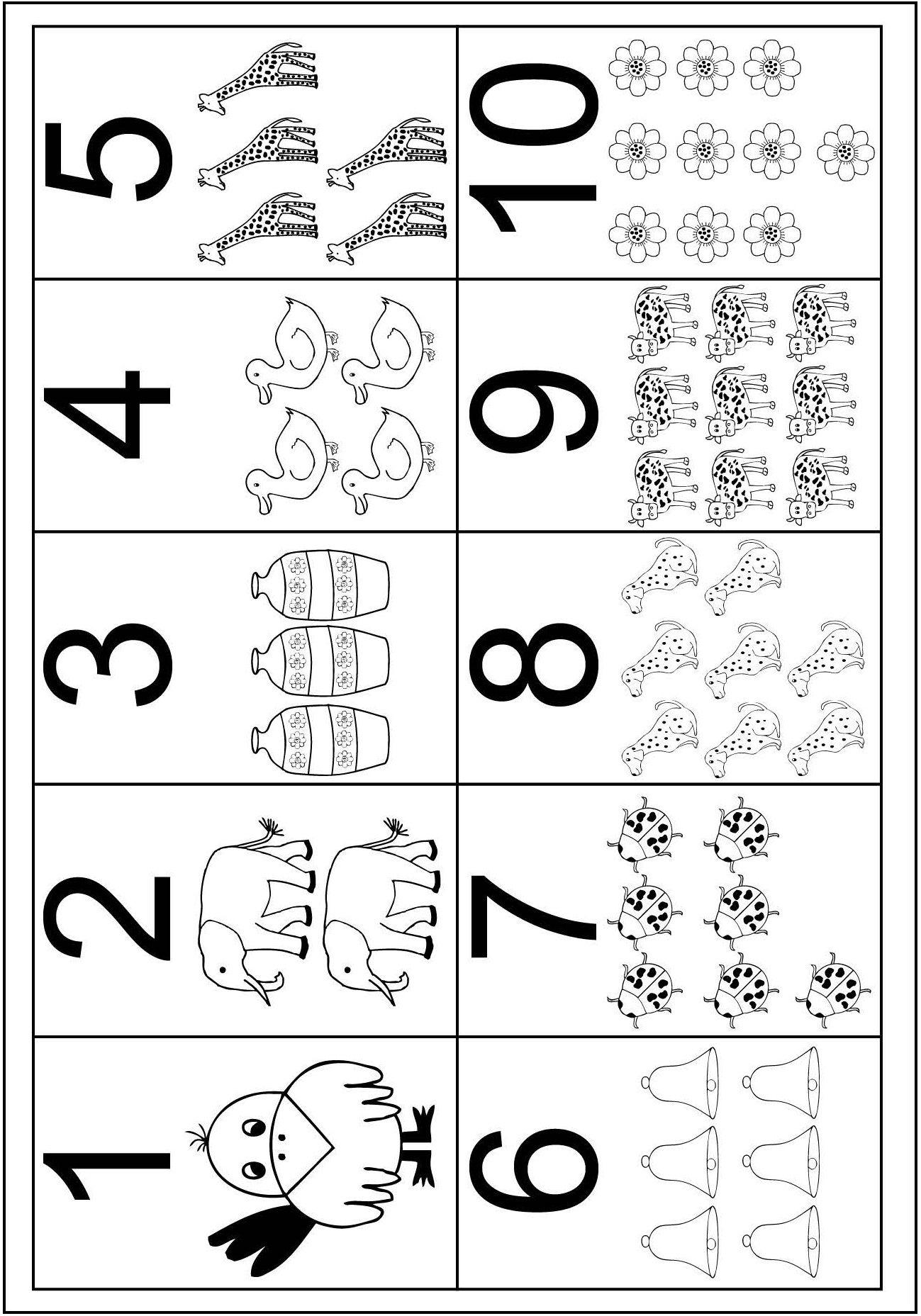 Numeros Ate 10 Atividades Numerais Numeros E Quantidades