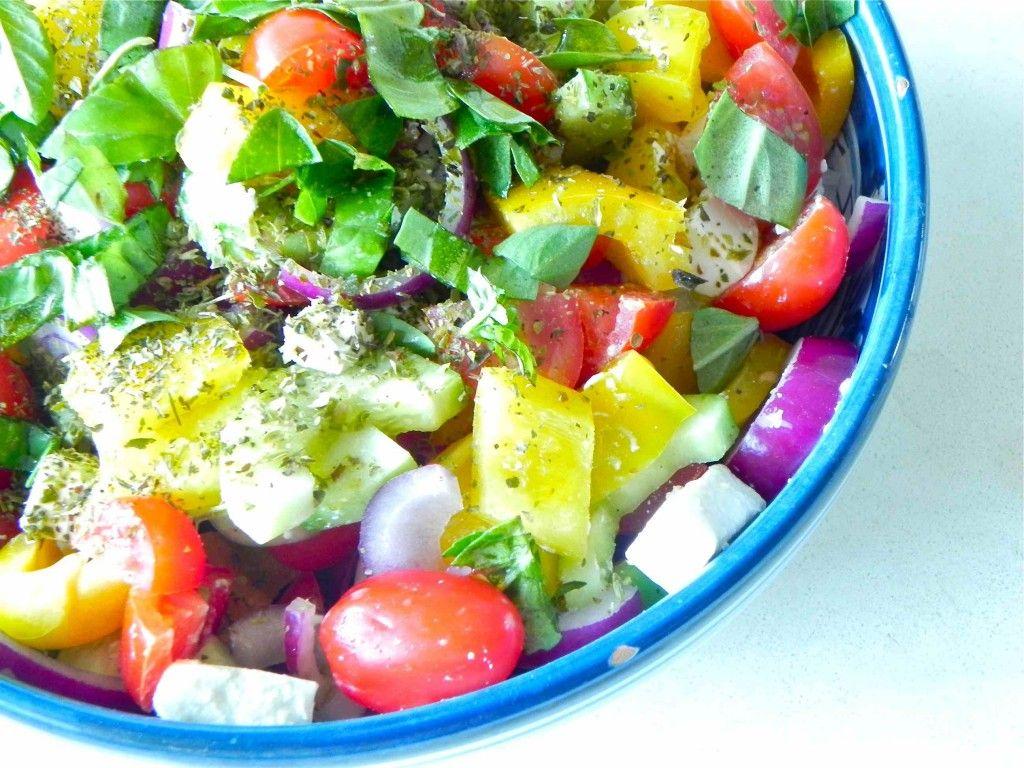Salade grecque - tomates, feta, concombre