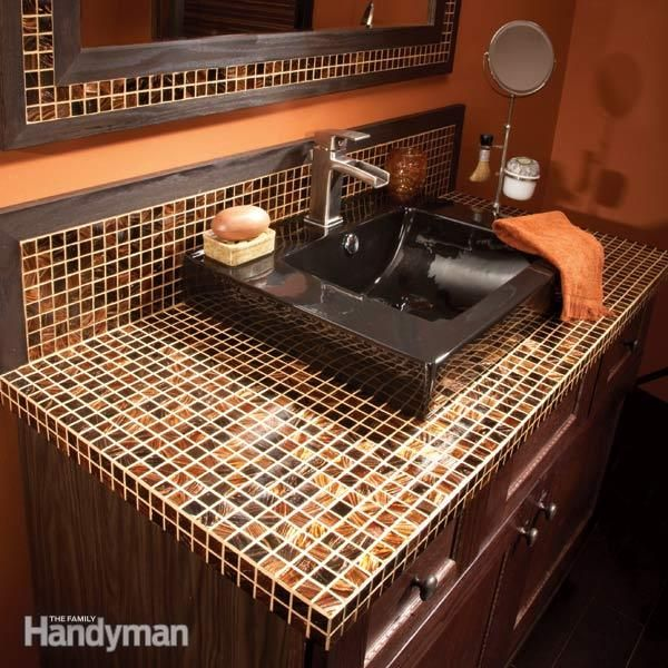 How To Install A Gl Tile Vanity Top With Images Gorgeous