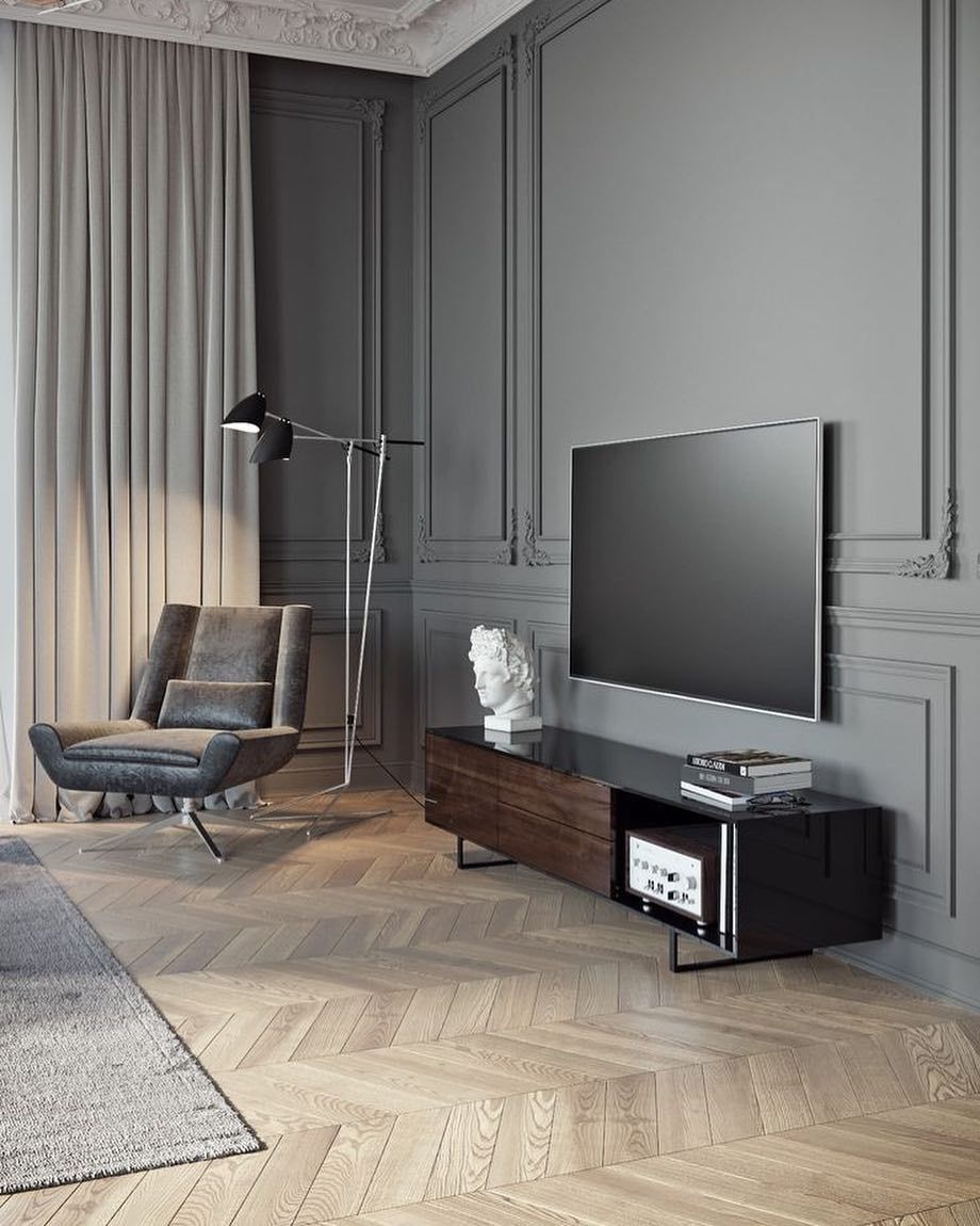 Holzvertäfelung Tv Pin By Richa Mahendra On Accent Walls Pinterest