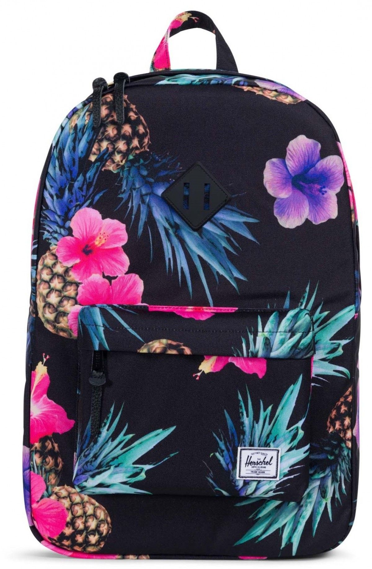 1c7a022f9f Herschel Heritage Backpack 600D Poly Black Pineapple Black ...