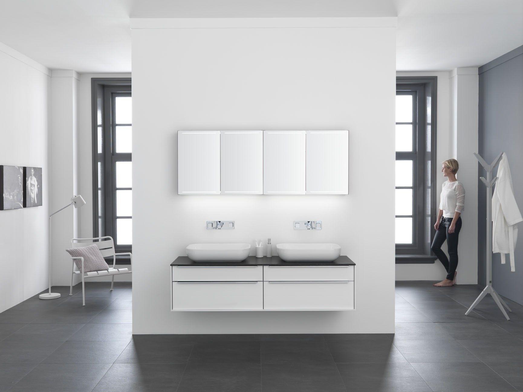 Moderne luxe spiegelkast type deluxe cm boven badkamermeubel