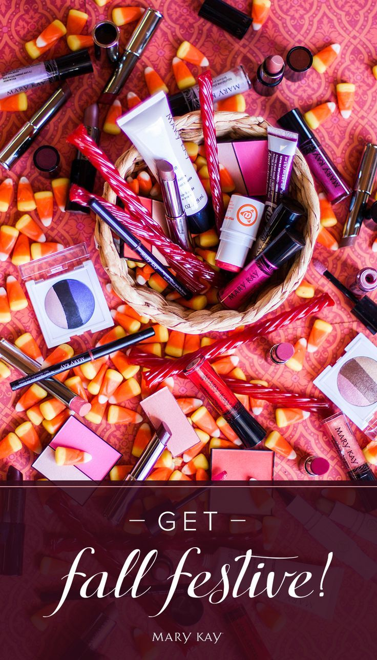 Add some spooky treats to a gift basket of makeup for a