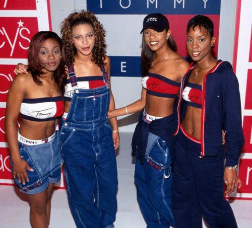 3c25c2e9 Young Beyonce and young Kelendria (with the two lost tribe members of DC) in  Tommy Jeans.
