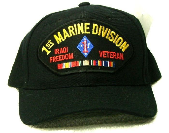 129549b90be Vintage 1st Marine Division Iraqi Freedom Veteran Low Profile Black Ball  Cap Never Worn. Find this Pin and more on Products by Old Salt Sailor  Apparel.